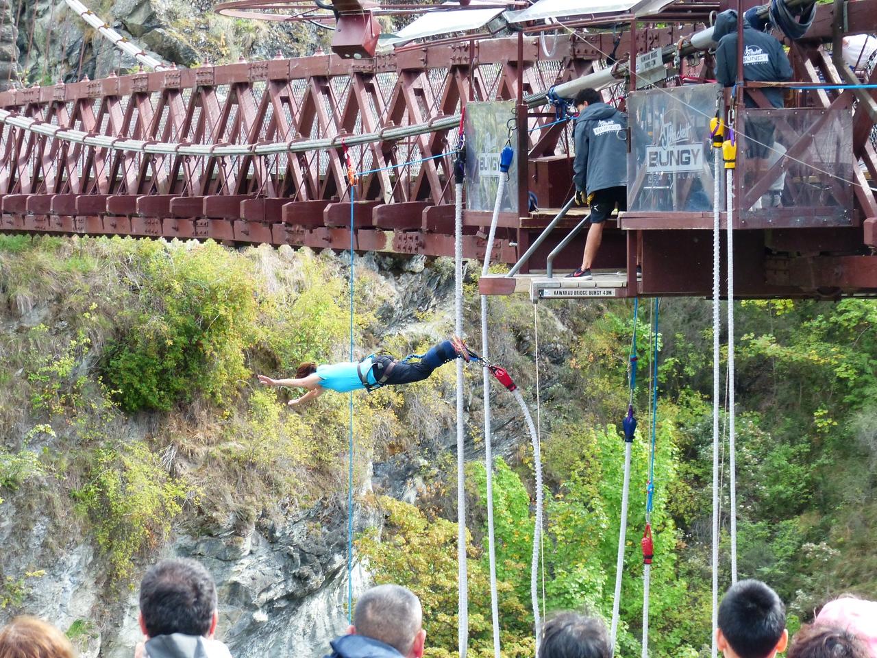 Queenstown - Kawarau Bridge Bungie Jumping.