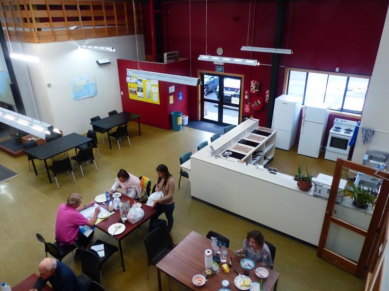 Haast Lodge had a huge kitchen area.