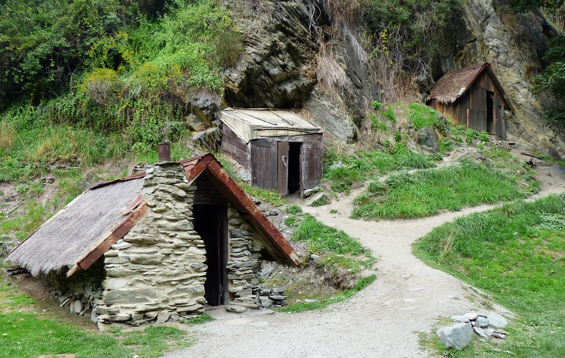 Historic Chinese Mining Settlement in Arrowtown.