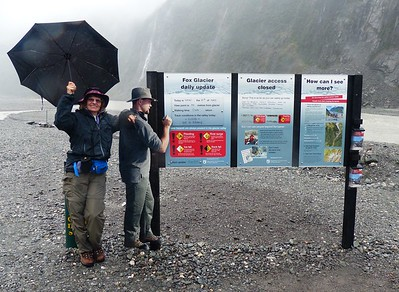 Same story at Fox Glacier  just south of Franz Josef Glacier. The storm closed most of the trails.