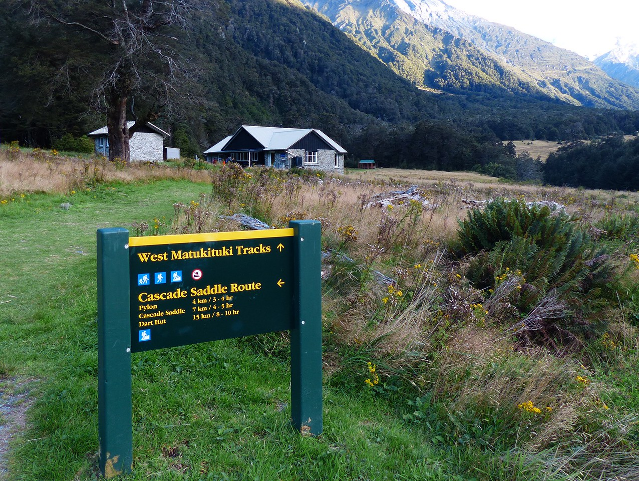 Mt. Aspiring backpack  -  We would spend 2  nights at the Mount Aspiring Hut and do dayhikes.