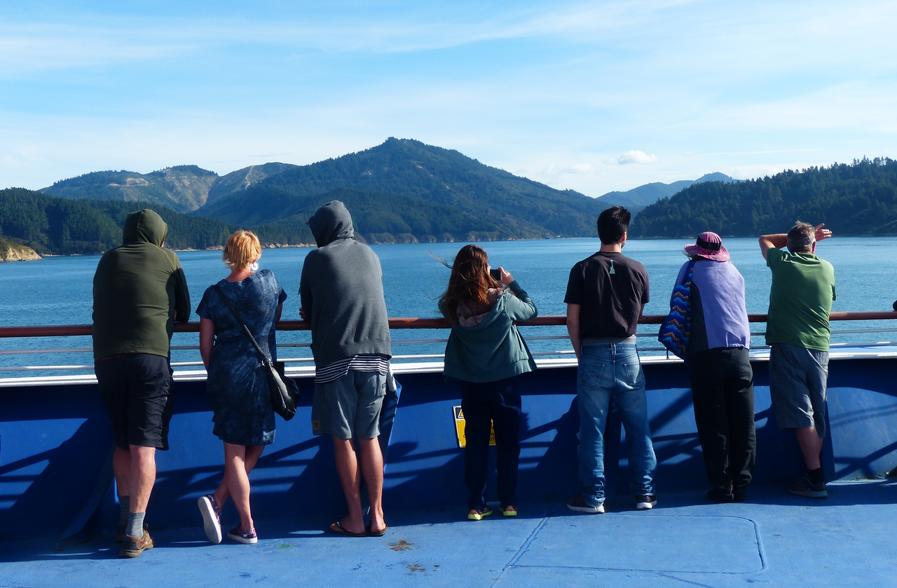 Crossing between North and South Island.