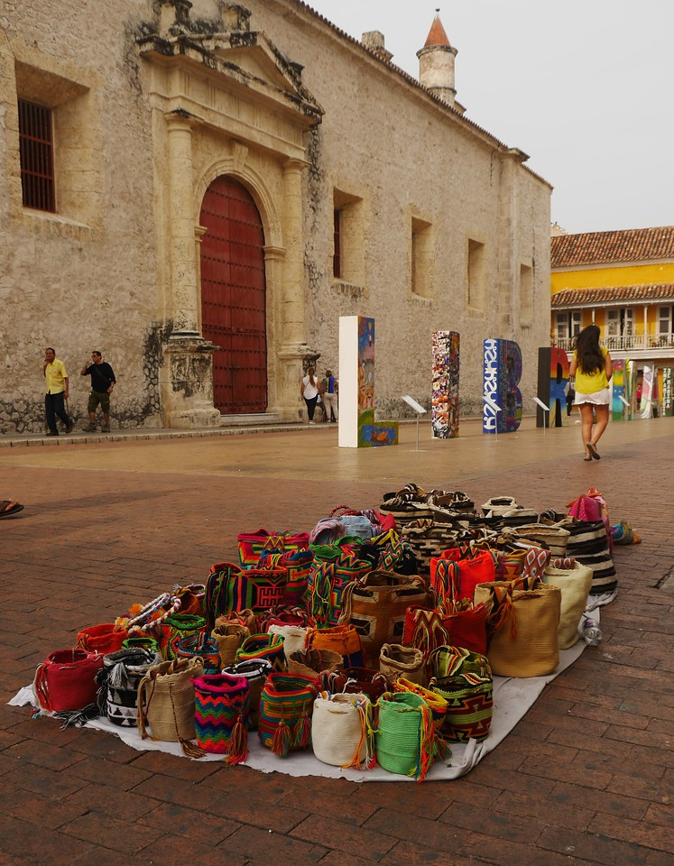 Cartagena  has lots of shopping for the cruise ship passengers who come here daily.