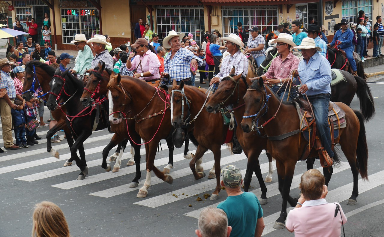 Boquete - The streets were filled with 500 horseback riders during the  festival.