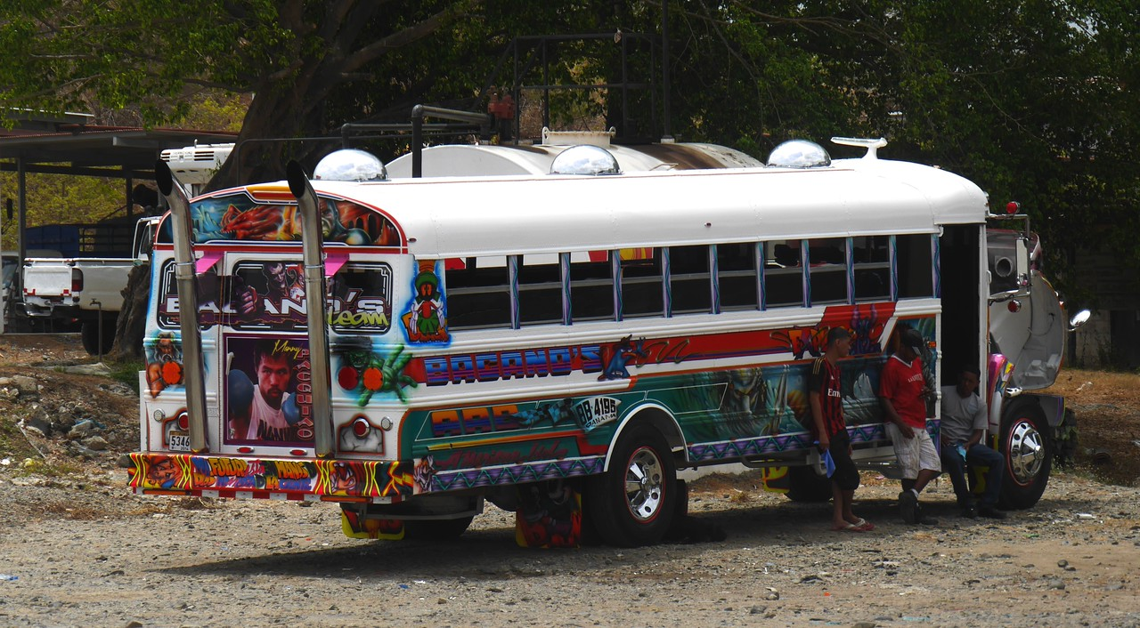 On the way to Panama City. I photographed this local bus.