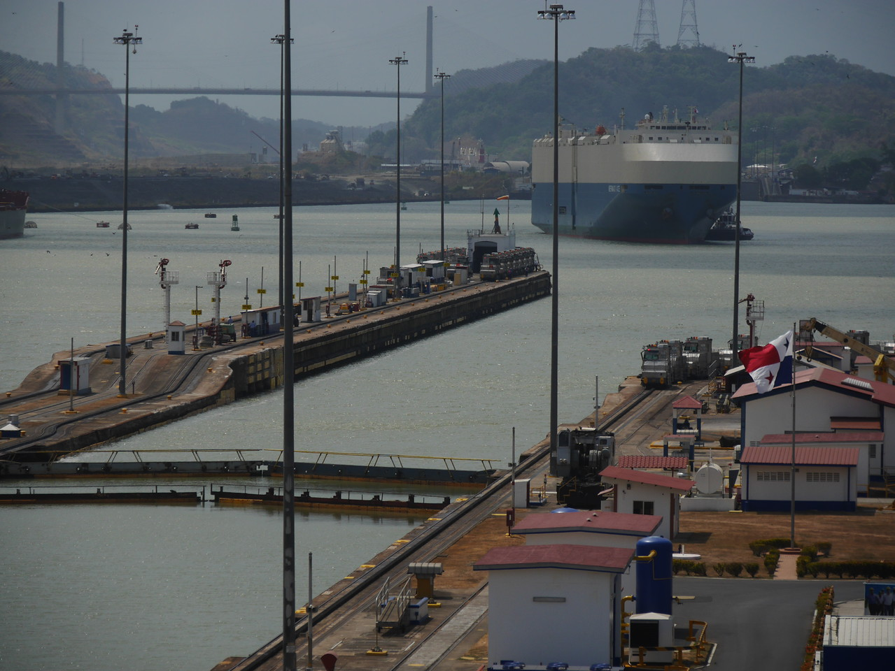 We spent most of a day at Miraflores  Visitors Center watching ships pass through the Panama Canal.