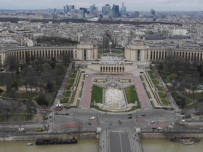 View from the 2nd  platform of the Eiffel Tower. The elevator to the top was closed for maintenance but the walk to this great view cost only 10 Euros.