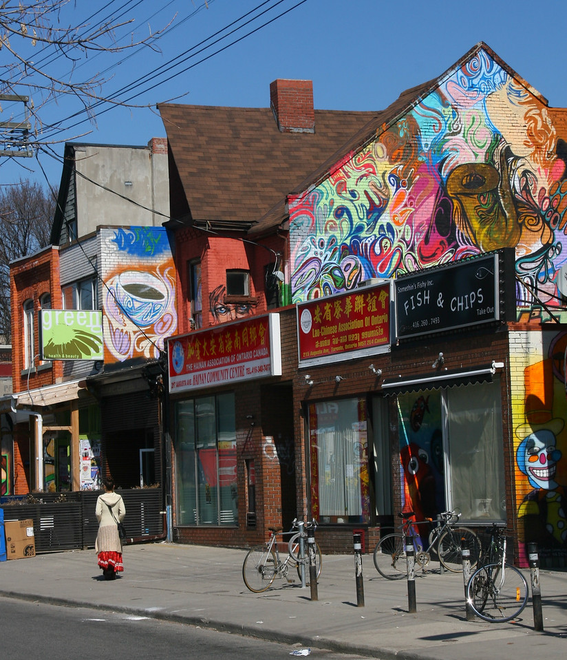 Kensington Market, near Chinatown, is a fun place to explore