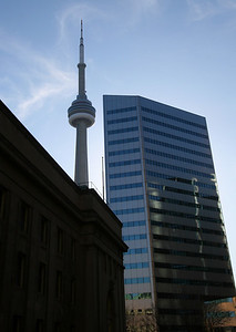 The CN tower dominates the skyline in Toronto