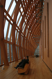 AGO also has had a modern facelift but it works better than in the ROM. The woodwork was designed by Frank Gehry.