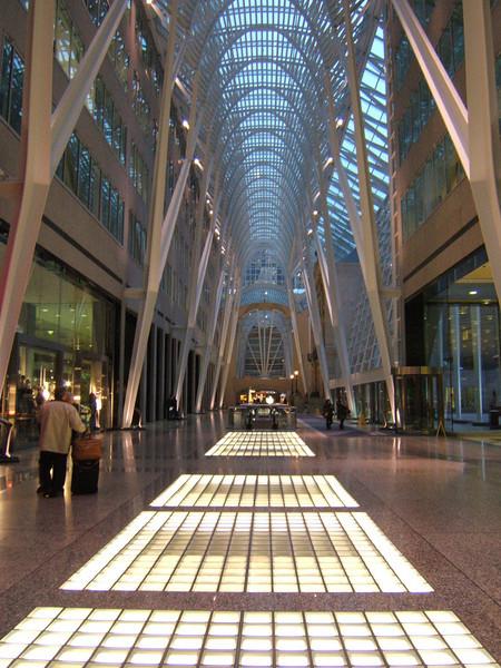 Inside a beautiful Galleria near Front street