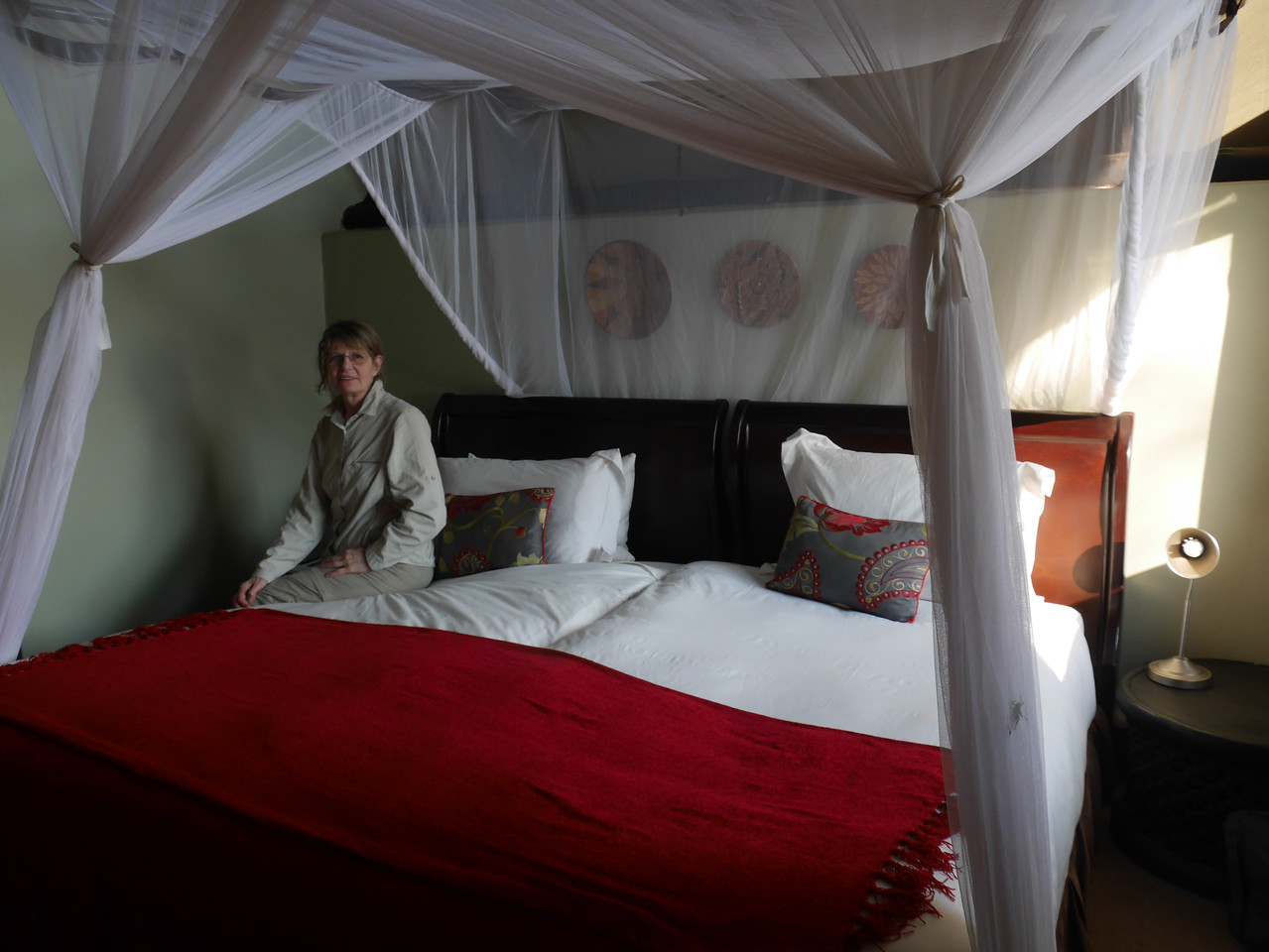 Our room at the  Baobab Lodge.