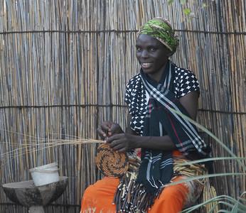 Basket weaving center in Mabele.