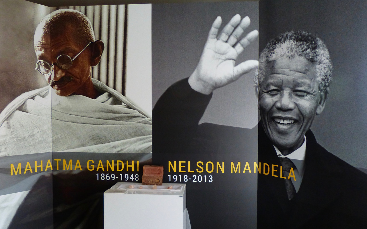 We stopped at Constitution Hill, where both Nelson Mandela and Mahatma Gandhi were imprisoned at different times.