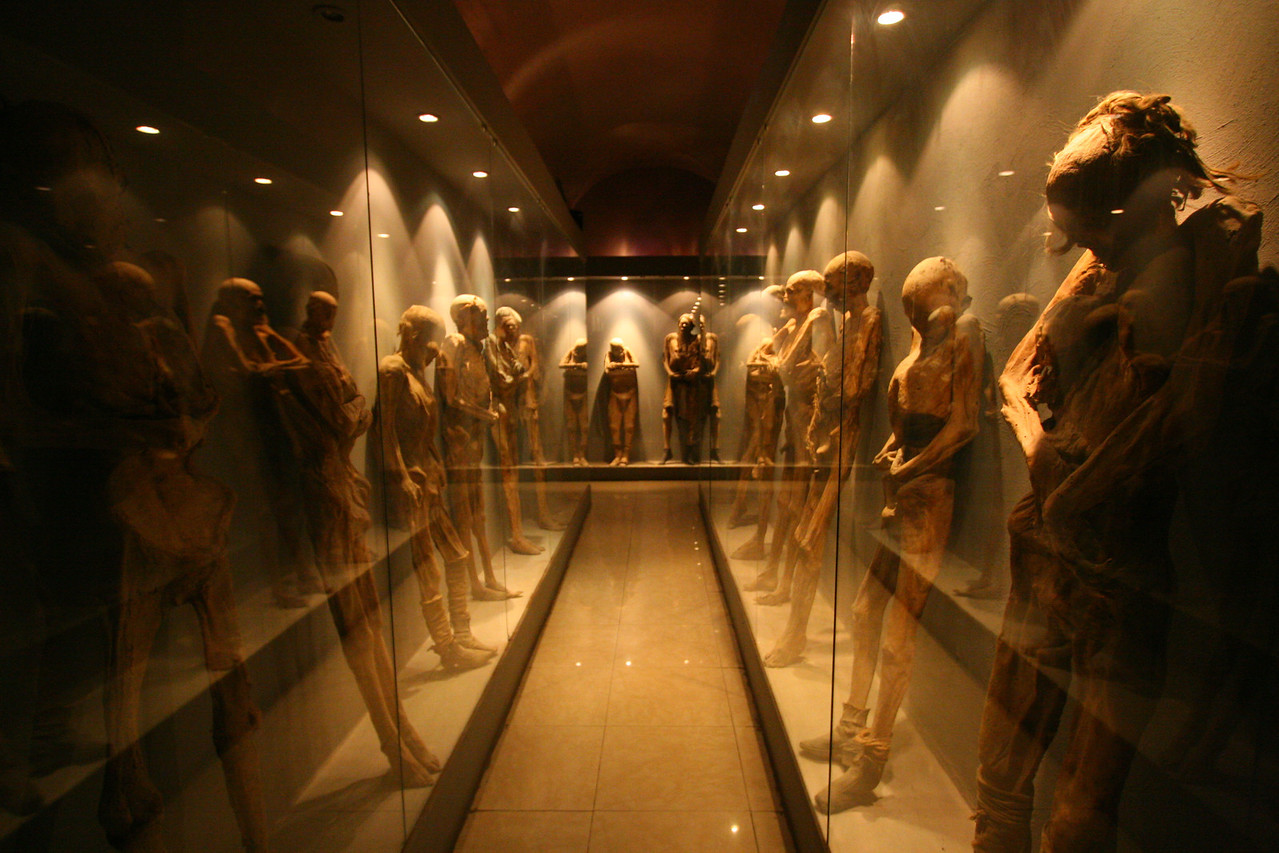 World famous Mummy Museum in Guanajuato