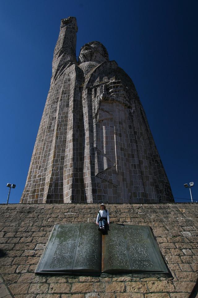 Morelos statue on Isla Janitzio