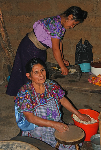 They also show us how to make tortillas and we sample some.