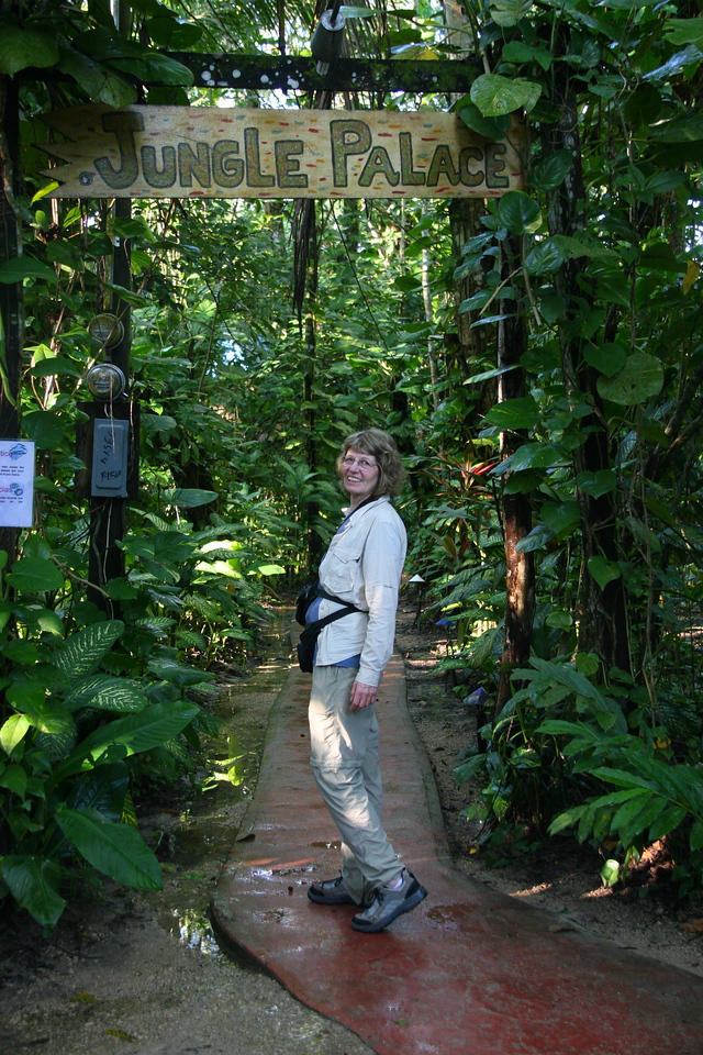 Our lodge at El Pancham is a short distance from Palenque and is in a lush jungle setting.