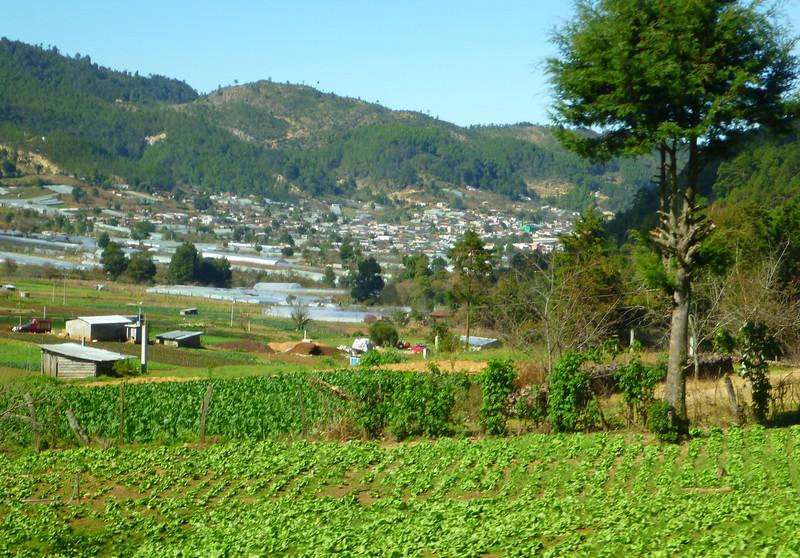 The traditional village of San Lorenzo Zinacantan near San Cristobal de las Casas