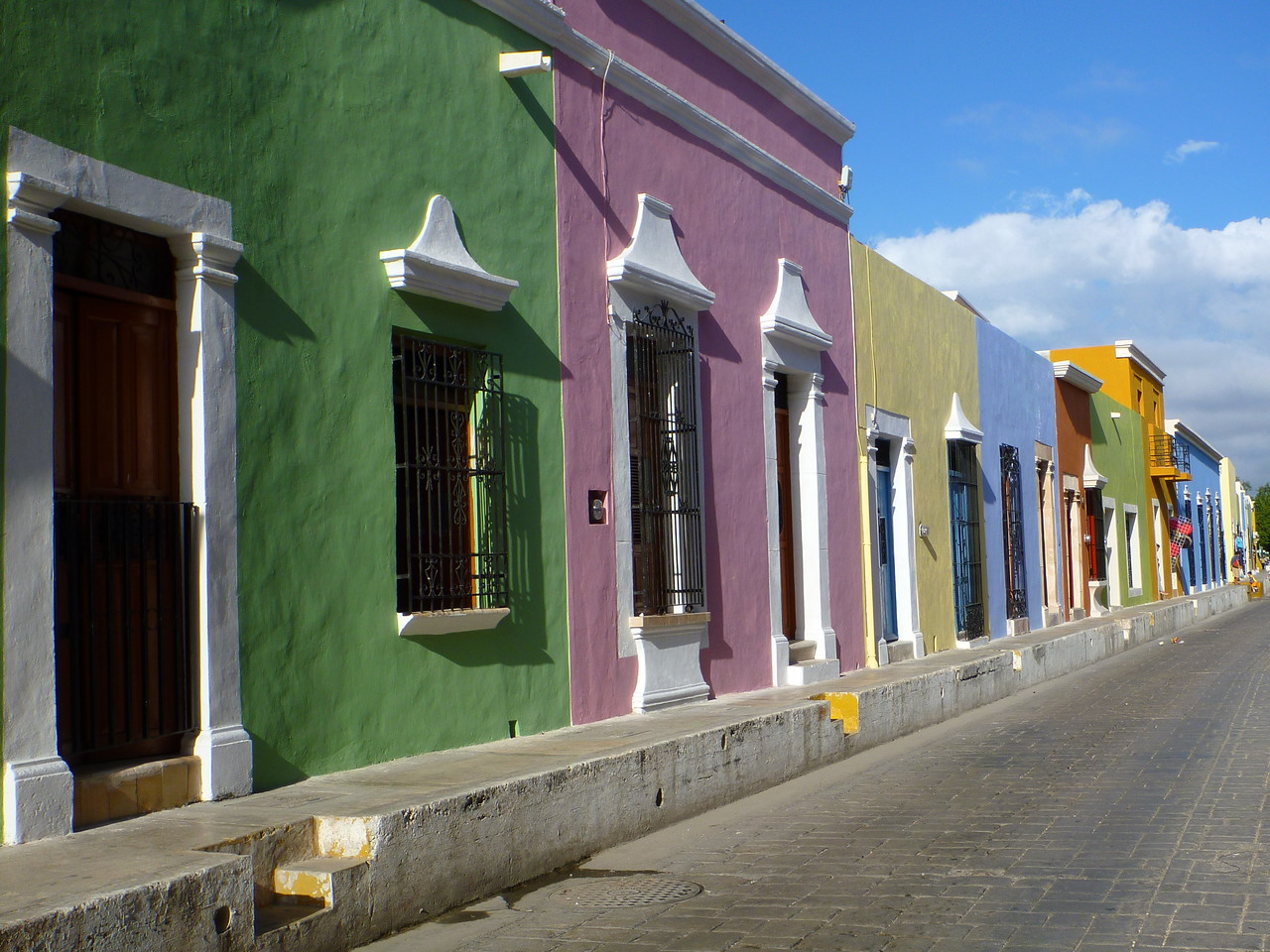 Campeche is a very colorful city.