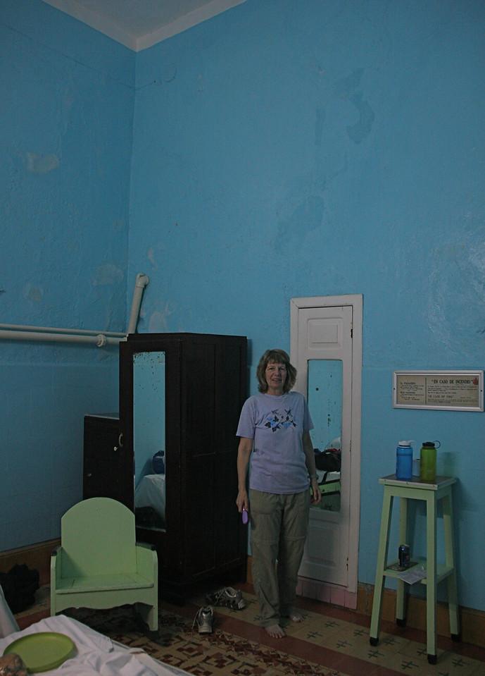 It has very high ceilings,