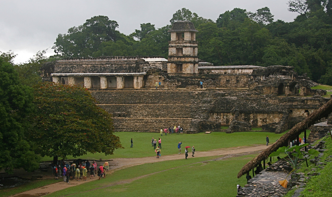 A building called The Palace as seen from the Temple of the Skull.