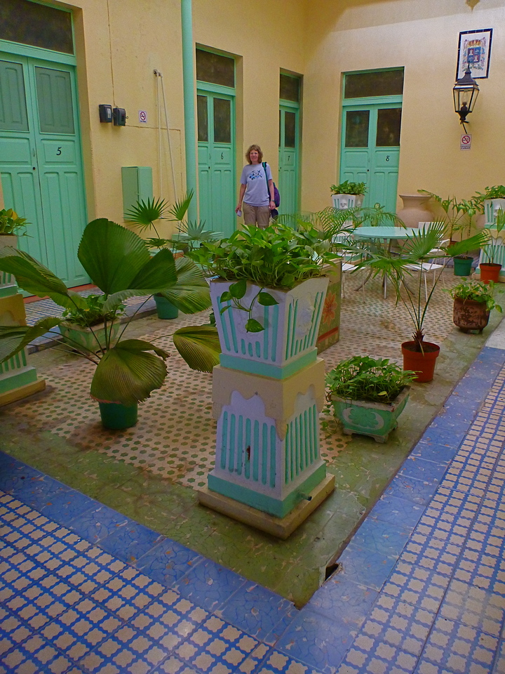 The Hotel Colonial in Campeche is a picturesque place that has not been modernized. But it is well maintained.