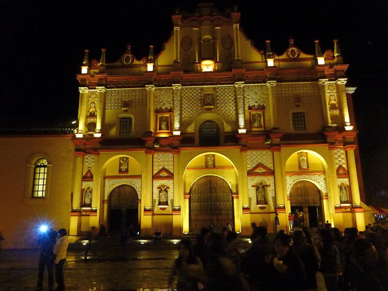 Main plaza at San Cristobal de las Casas.