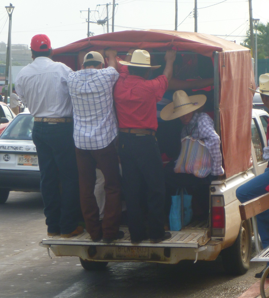 Typical transportation in Mexico.