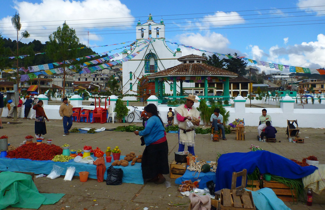 A market in front of the church