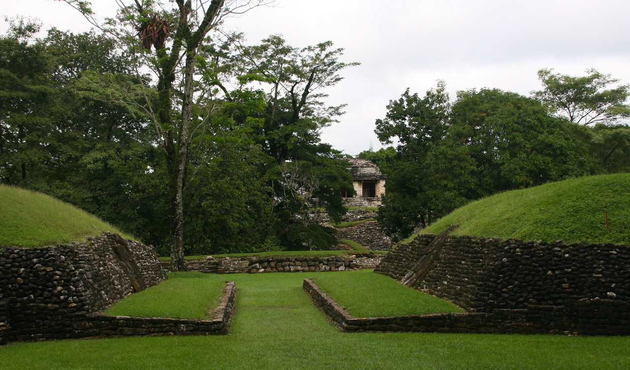 Almost all Mayan ruins have ball courts.