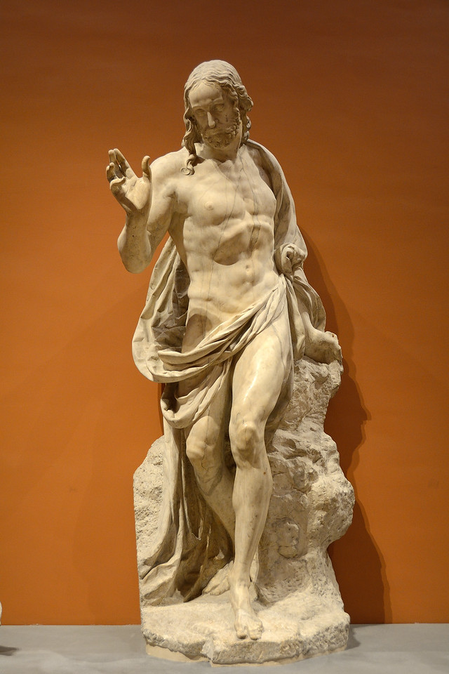 Jesus Christ, part of the Resurrection group. Marble, before 1572