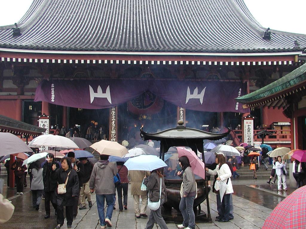 Buddhist temple hozo mon gate