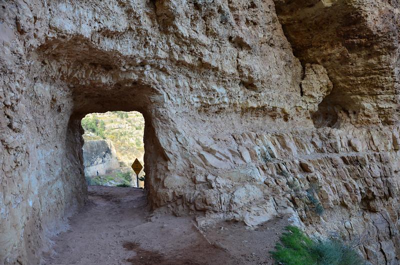 Tunnel on Bright Angel Trail