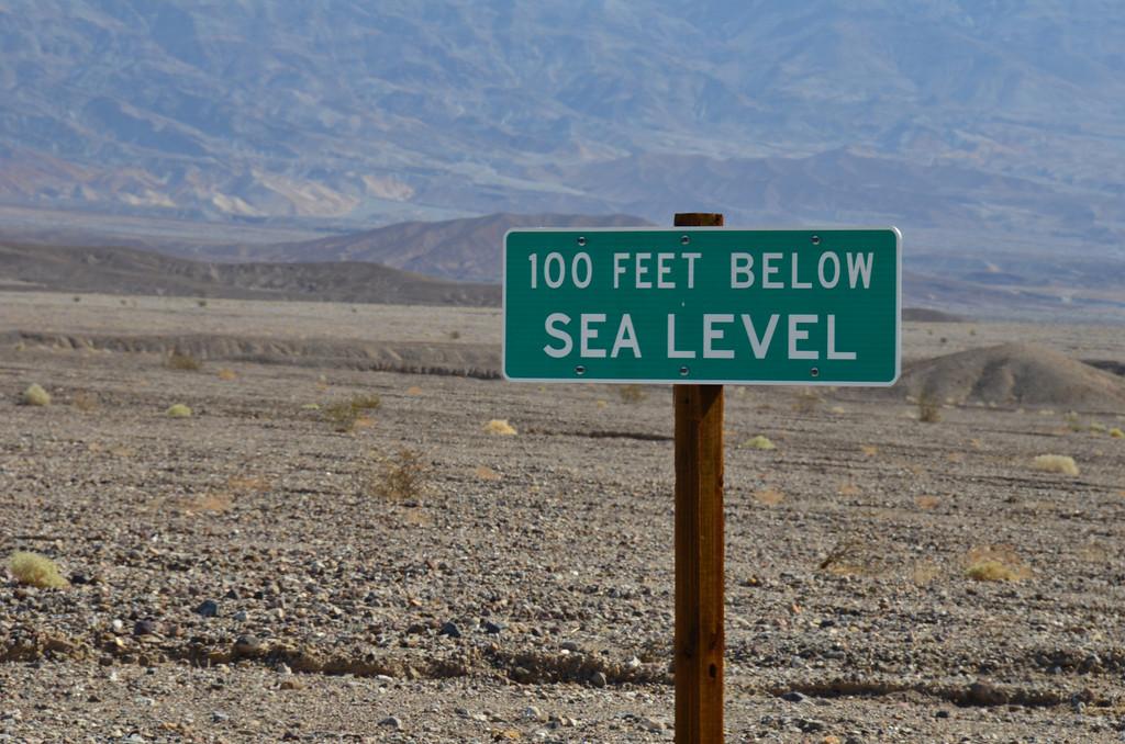 Below Sea Level near Devil's Cornfield