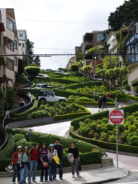 The Crooked Street , Lombard Street