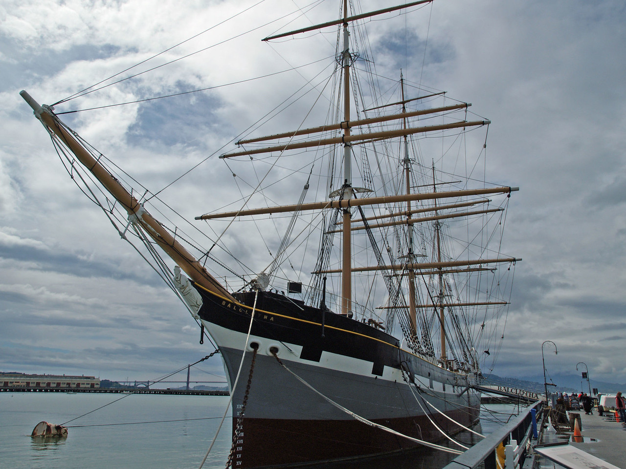 BALCLUTHA, is a steel-hulled full rigged ship that was built in 1886.