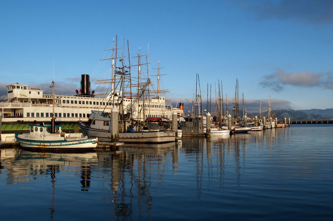 Ships Docked at Hyde Park Pier