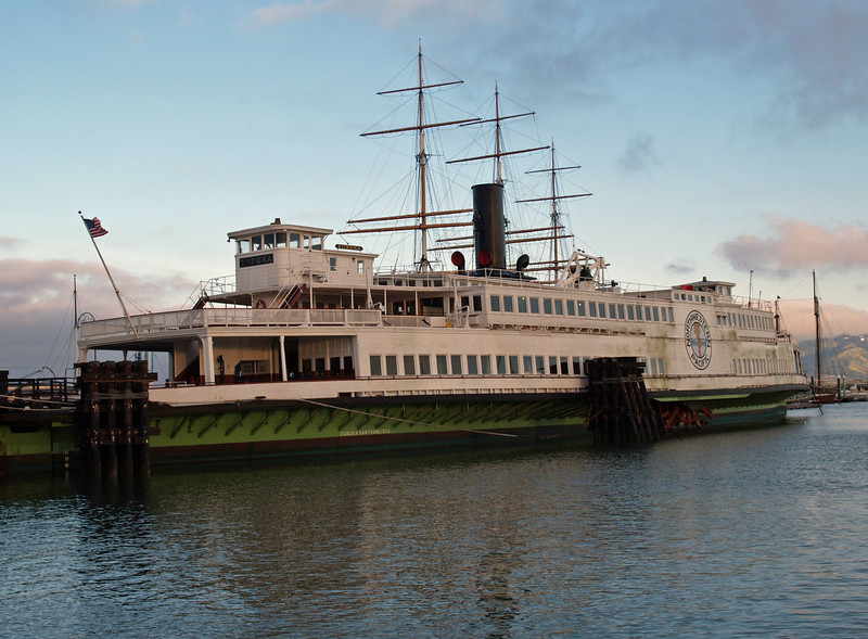 The Eureka is a side-wheel paddle steamboat, built in 1890