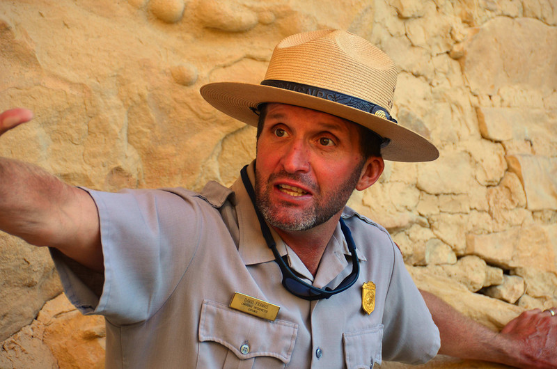 Entertaining Ranger at the Cliff Palace