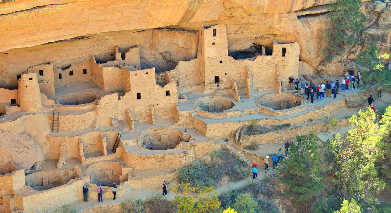 Tour Group at Cliff Palace