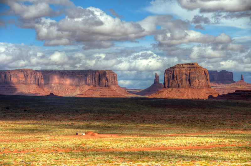 Monument Valley with Navajo Hogan