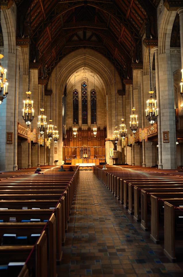 Interior of the Fourth Presbyterian Church