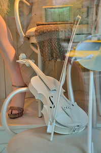 Violin in Storefront