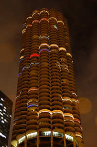 One of Two Honey Comb Shaped Marina Towers