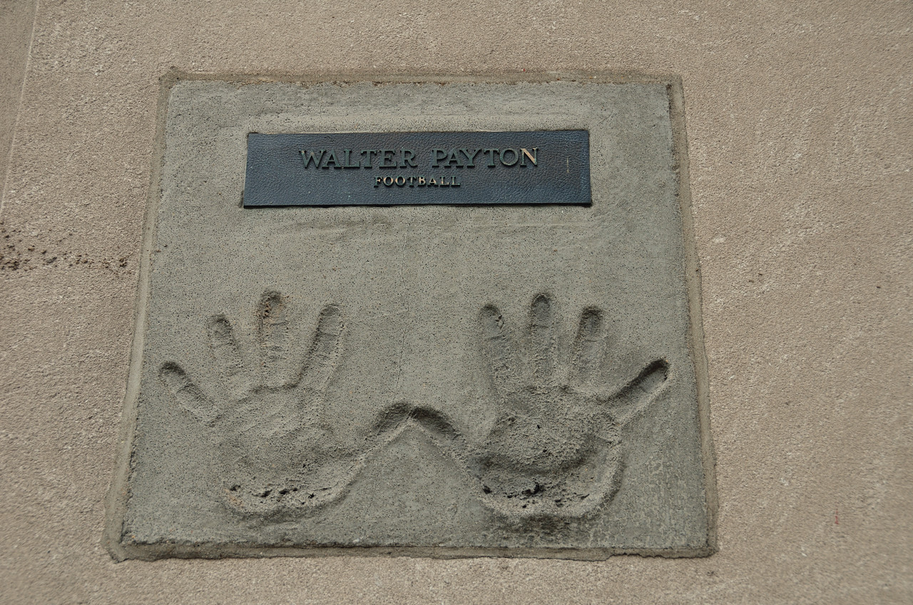 Walter Payton's hands in cement