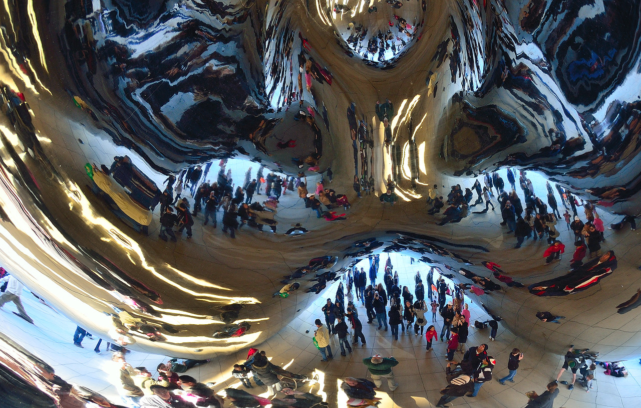Underneath the Bean.