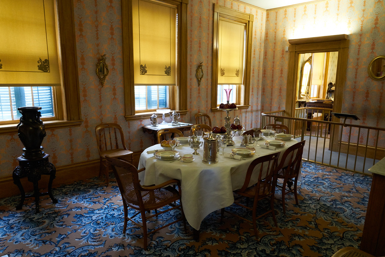 Dining Room of the Grant home.