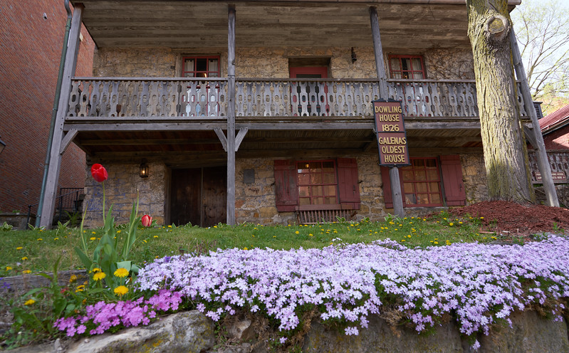 Galena's oldest house, built of native limestone in 1826 as a trading post and residence