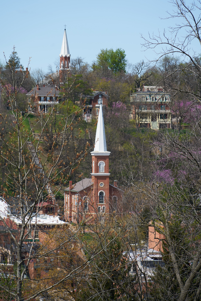 View of church steeples from Grant's home.
